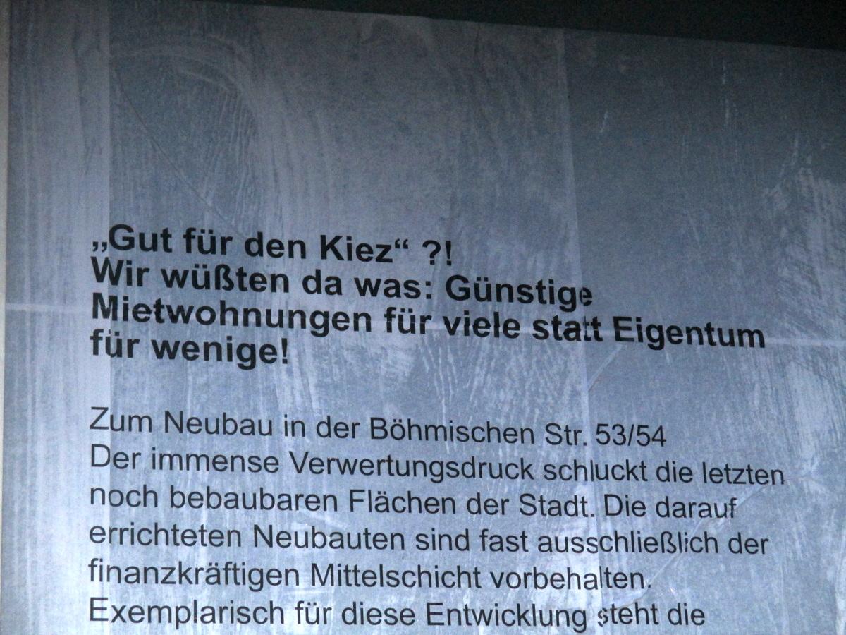 Gut für den Kiez - Böhmische Straße 53