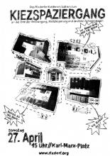 Flugblatt für den Kiezspaziergang am 27.04.2013